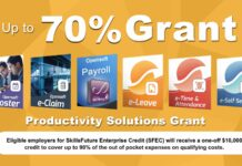 Up to 80% grant for Payroll software, e-Leave, e-Claim, HRMS