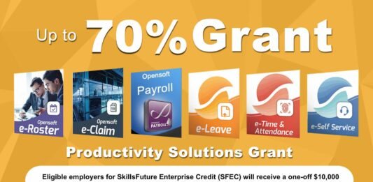 Up to 98% grant for Payroll, eLeave, eClaims HRMS solutions